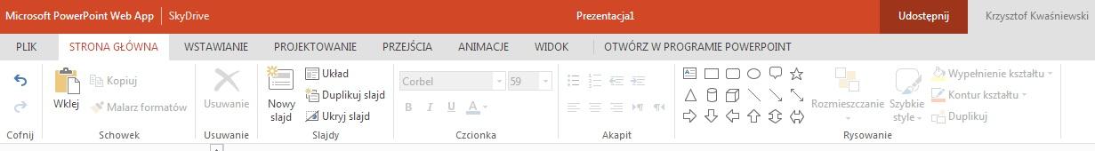 Przykładowa prezentacja Office 365