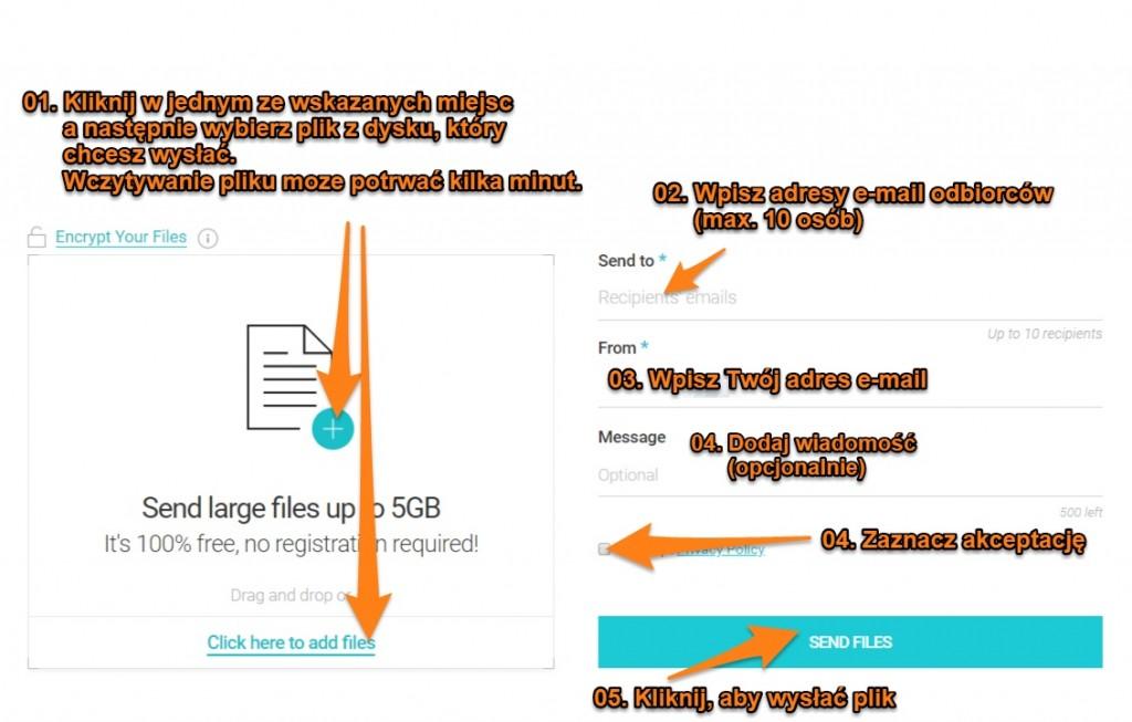 wysyłanie dużego pliku zapomocą usługi pcloud